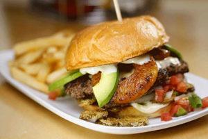 Flaming Tiki burger