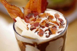 velvet elvis shake pecans, peanut butter, hot fudge, banana, bacon