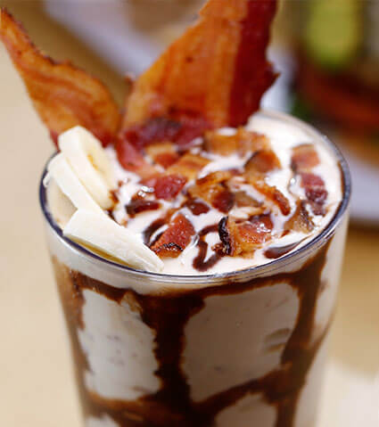 shake with bacon and bananas