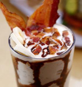 shake with bacon and bananas